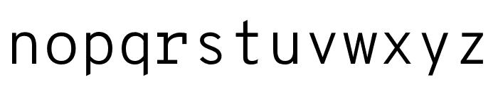 OverpassMono-Light Font LOWERCASE