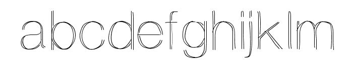 Ovrlap Font LOWERCASE