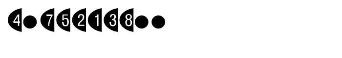 Oval Frame Negative Font OTHER CHARS