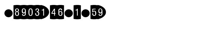 Oval Frame Negative Font UPPERCASE