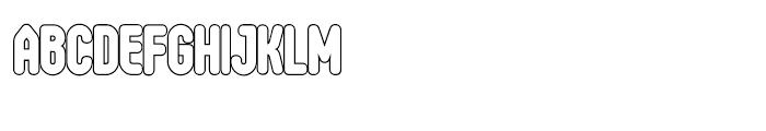 Oval Single Light Font UPPERCASE
