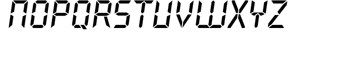 Overtime LCD Bold Italic Font LOWERCASE