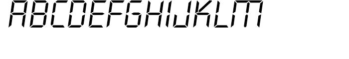 Overtime LCD Light Italic Font LOWERCASE