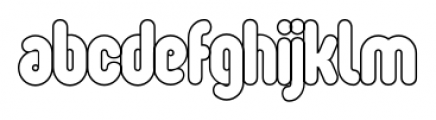 Oval  Single Light Font LOWERCASE