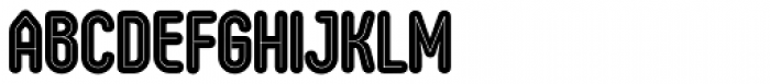 Oval Double Font UPPERCASE