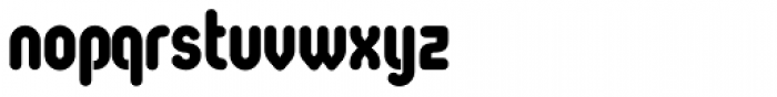 Oval Heavy Font LOWERCASE