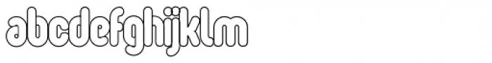 Oval Single Light Font LOWERCASE