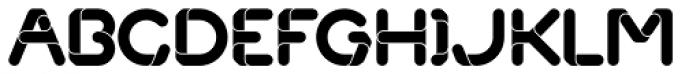 Overlap Font LOWERCASE