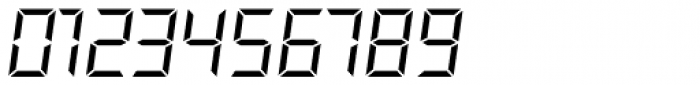 Overtime LCD Pro Light Italic Font OTHER CHARS