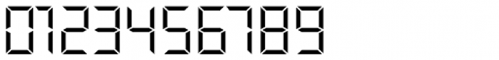 Overtime LCD Pro Light Font OTHER CHARS