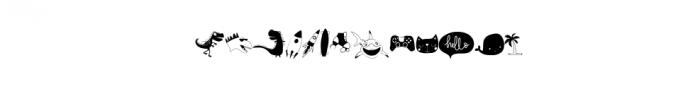 Owen Zoey Kids Characters.ttf Font UPPERCASE