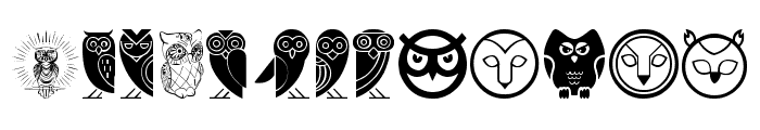 Owl Font LOWERCASE