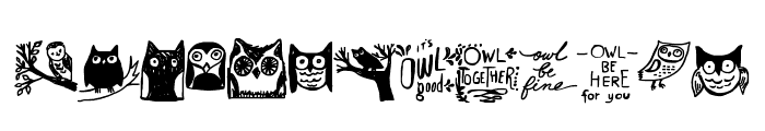 Owlmazing Font UPPERCASE