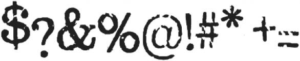 Oxeran Regular otf (400) Font OTHER CHARS