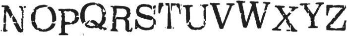 Oxeran Regular otf (400) Font UPPERCASE