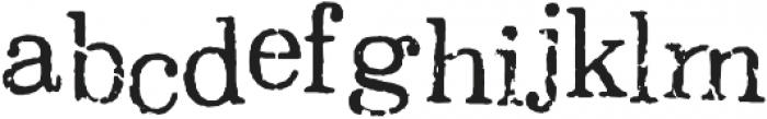 Oxeran Regular otf (400) Font LOWERCASE
