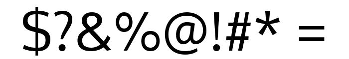 Oxygen Regular Font OTHER CHARS