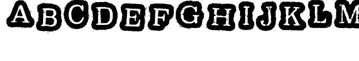 Oxeran Z Regular Font UPPERCASE