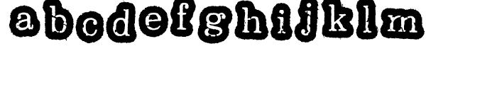 Oxeran Z Regular Font LOWERCASE