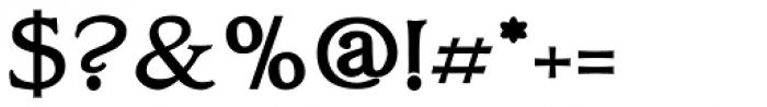 Oxonia Roman Bold Font OTHER CHARS