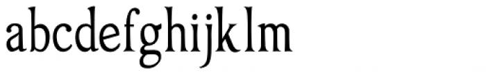 Oxonia Roman Condensed Font LOWERCASE