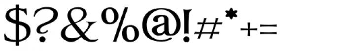 Oxonia Roman Font OTHER CHARS