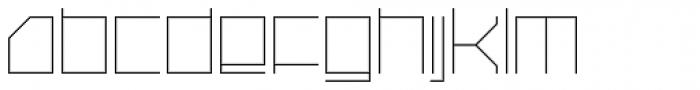 Oxygen Light Font LOWERCASE