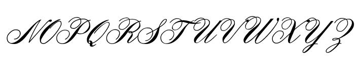 OYALE Scrip Bold Font UPPERCASE