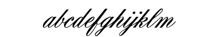 OYALE Scrip Bold Font LOWERCASE