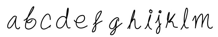 oysternubsscript Font LOWERCASE