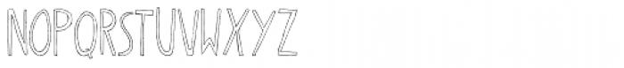 Oyster Outline 2 Font UPPERCASE
