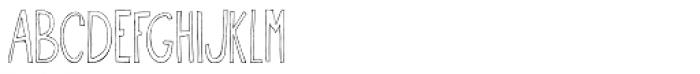 Oyster Outline Font UPPERCASE