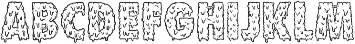 OZZOMBIE ttf (400) Font LOWERCASE