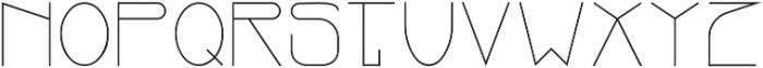 OZone Thin otf (100) Font UPPERCASE