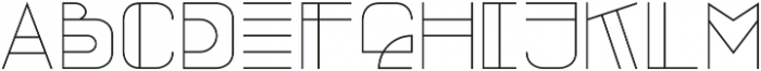 OZone Thin otf (100) Font LOWERCASE