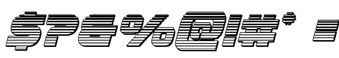 Ozda Chrome Italic Font OTHER CHARS