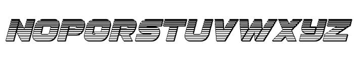 Ozda Chrome Italic Font UPPERCASE