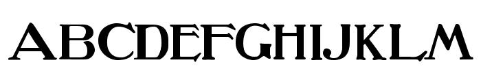 Oz's Wizard Scarecrow Font UPPERCASE