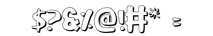 Ozymandias Outline Font OTHER CHARS