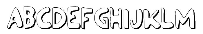 Ozymandias Outline Font UPPERCASE