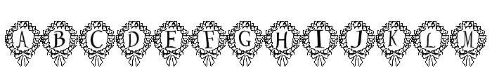 P-xmas Font Font UPPERCASE
