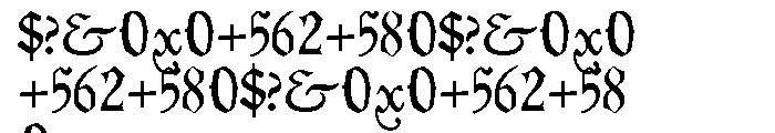 P22 Civilite Pro No 30 Font OTHER CHARS