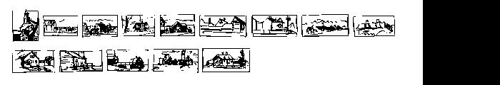 P22 Hopper Sketches Font UPPERCASE
