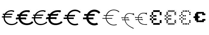 P22 Euros Font UPPERCASE
