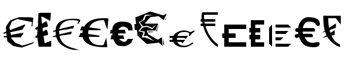 P22 Euros Font LOWERCASE