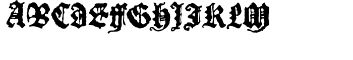 P22 Canterbury Regular Font UPPERCASE