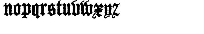 P22 Canterbury Regular Font LOWERCASE