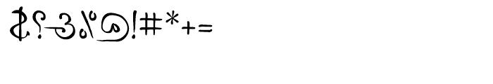 P22 DaVinci Backward Font OTHER CHARS