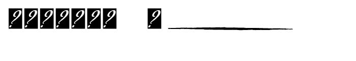 P22 Declaration Signatures Font OTHER CHARS