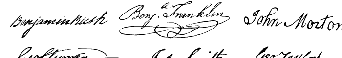 P22 Declaration Signatures Font UPPERCASE